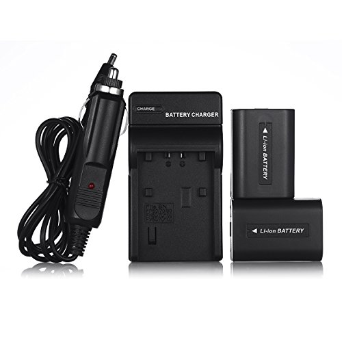 Powerextra 2 Pcs Replacement Sony NP-FH50 Battery For Sony Alpha DSLR A230, DSLR A290, DSLR A330, DSLR A380, DSLR A390, Cyber-shot DSC-HX1, DSC-HX100V, DSC-HX200V, HDR-TG5V Digital Camera by Powerextra