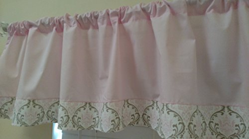 Pastel Baby light pink and pink taupe damask on the bootm. G