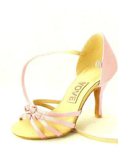 Dance Black purple Shangyi Latin Heel Shoes Satin Almond Customized yellow Women's pink fuchsia Customizable salsa blue red white ERRCzxqwg