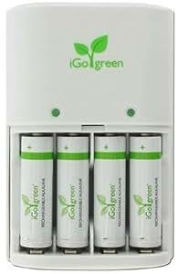 iGo Green cargador de batería AA - Alcalino x 4