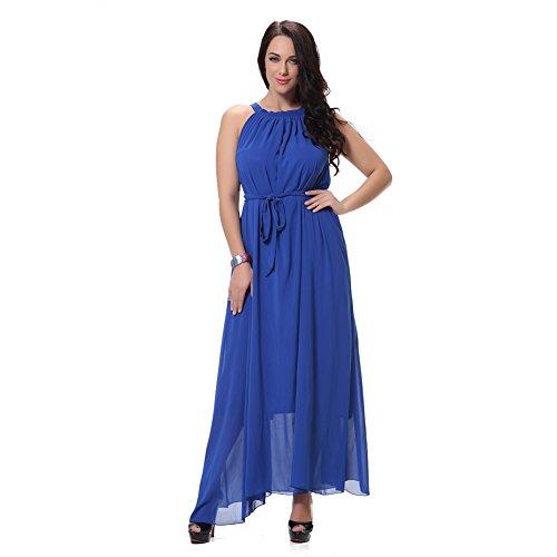 Neckholder Kleider Chiffonkleider Partykleid Cocktailkleid Maxikleid Size Plus Damen Abendkleid Sommerkleid Festkleider Boho Ibaste Lang LVGqSpzMjU