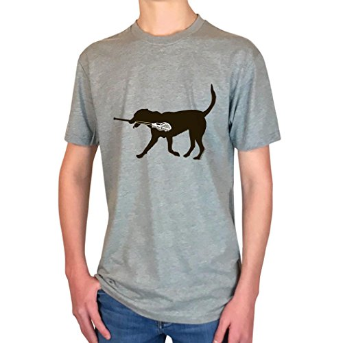 Max The LAX Dog T-Shirt | Lax Tees by ChalkTalk SPORTS | Sport Gray | Adult Large - http://coolthings.us