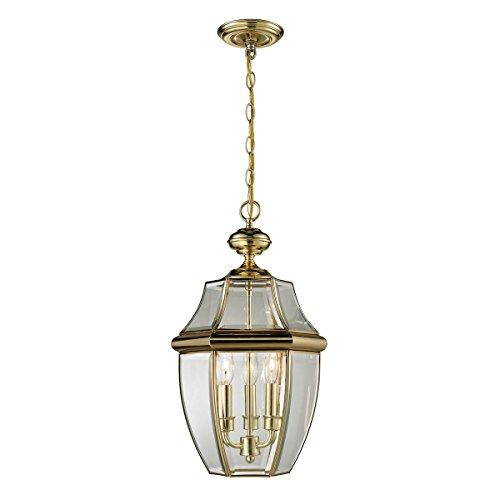 Brass Ceiling Lantern (Thomas Lighting  Ashford  Hanging Lantern, Large, Antique Brass Finish)
