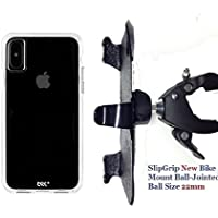 SlipGrip 1.5 Bike Holder For Apple iPhone X Using Case-Mate Tough Clear Case