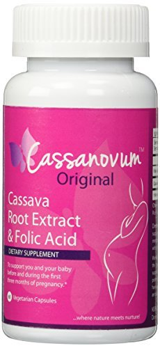 Cassava Root Supplement & Folic Acid, Fertility Supplement for Twins and Healthy Pregnancy (Cassava Root Extract) 800mg capsules. Suitable for vegetarians,60 capsules (Folic Acid To Get Pregnant With Twins)