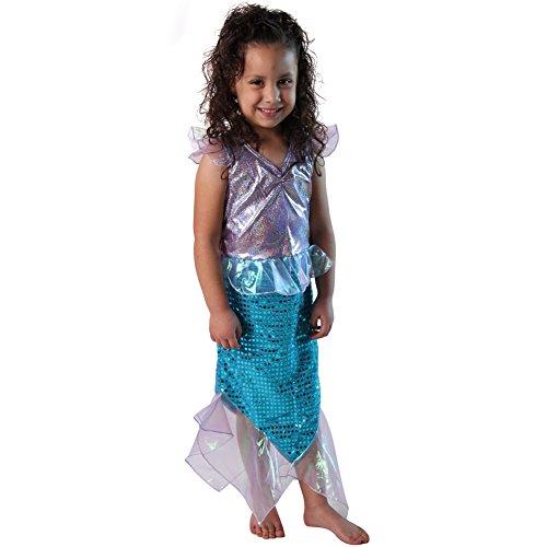 Blue Sequin Mermaid Dress Up Set, Size 4/6 (Under The Sea Fancy Dress Costumes)
