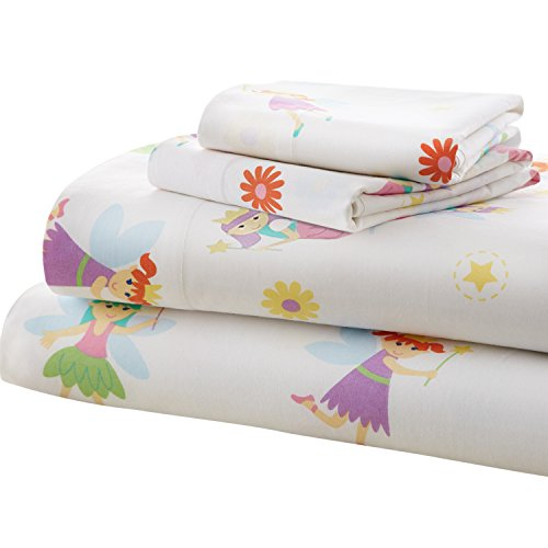 Wildkin Toddler Sheet Set, 100% Cotton Toddler Sheet Set with Top Sheet, Fitted Sheet, and Pillow Case, Bold Patterns Coordinate with Other Room Décor, Olive Kids Design – Fairy Princess