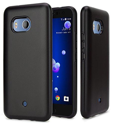 Design Hybrid - HTC U11 Case, NageBee Design Premium [Heavy Duty] Defender [Dual Layer] Protector Hybrid Case For HTC U11 (Black)