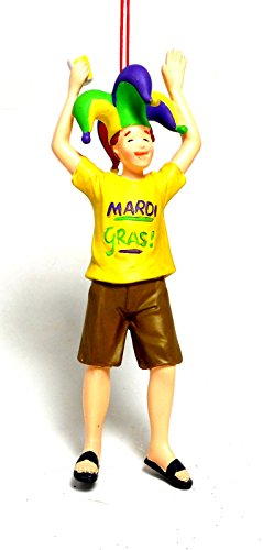 Midwest-CBK Mardi Gras College Student Resin Ornament