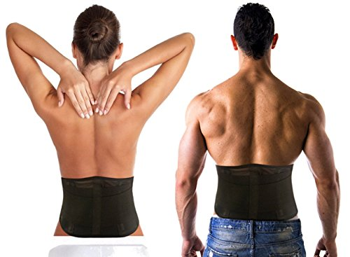 Back Brace Solutions PREMIUM Fit Mesh Lower Back Lumbar Support Brace/Belt. Adjustable For Men And Women. BREATHABLE Mesh Back Wrap for Working Or Playing Sports! (L/XL Waist Size 36