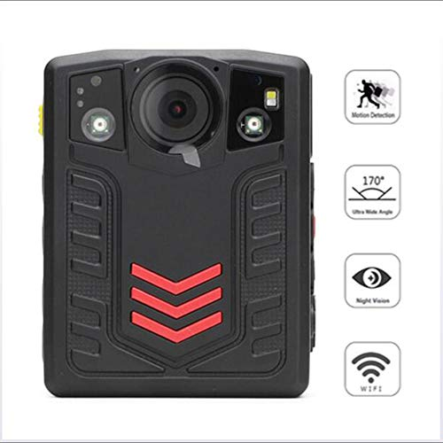 DX.JLY Compact Portable HD Body Camera 1296P 2.0 inch Full HD Display Motion Detection Infrared Night Vision Function IP67 Waterproof