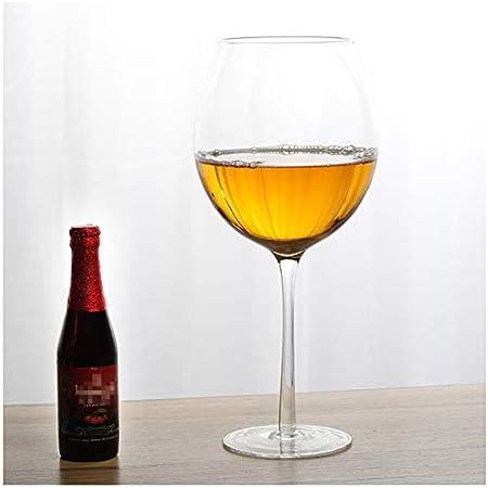 MEILINL Decantador Copa De Vino Diseño De Cristal Gigante Un Regalo De Bar Novedoso para Los Amantes del Vino para Jugo Limonada Whisky Cerveza Cócteles Y Copas De Bebidas