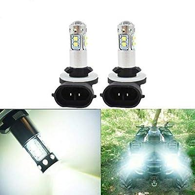 WFLNHB 881 100W LED White Headlight Bulb 889 886 894 896 Fog Lights DRL for 2009 2010 Polaris Ranger RZR 800 EFI: Automotive [5Bkhe1004109]