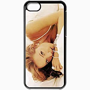 Personalized iPhone 5C Cell phone Case/Cover Skin Angelina jolie ring face bangle actress Black