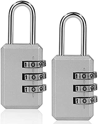 ISIYINER Candados Combinación,Candado de Seguridad Combinaciones de 4 Dígitos para Gimnasio Maleta Caja de Herramientas Gabinete Puerta Cobertizo Almacenamiento Equipaje[2PACK]: Amazon.es: Hogar
