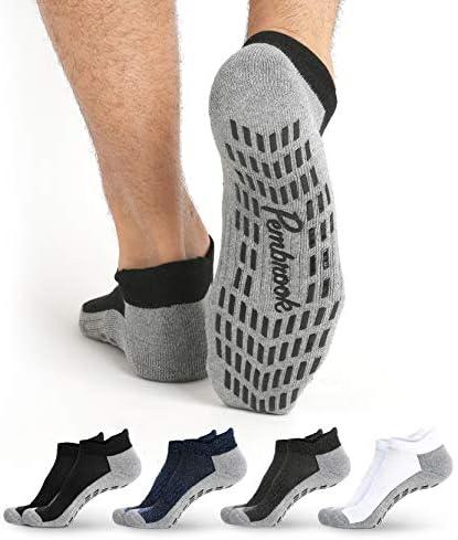 Calcetines antideslizantes para tobillo (4 pares) – Calcetines antideslizantes para yoga, pilates, maternidad, embarazo, hospital, adultos, hombres y mujeres 3