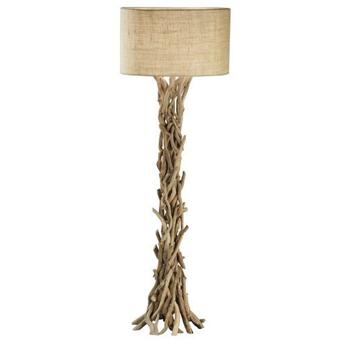 Benzara 67712 The Simple Driftwood Metal Floor Lamp