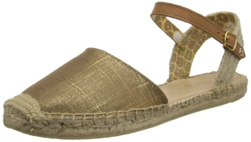Sperry Top-Sider Women's Hope Gold Sparkle Linen, 5.5 M US (Sider Top Espadrilles Sperry)