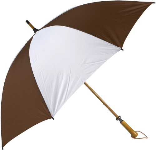 Haas-Jordan Eagle Golf Umbrella Brown White