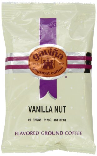 Gavina Vanilla Nut Ground Coffee Portion Packs, 42 Count