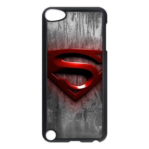 PanBox Superman Logo Wood Look Phone Case for iPod Touch 5th Generation - Best Protective Cover for Apple (Best Ironman Costume)
