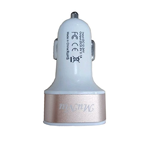 Price comparison product image Me Fashion USB Car Charger Input 12-24V,Output 5V/5.1A Compatible IOS Device and Android device (2 USB Ports)