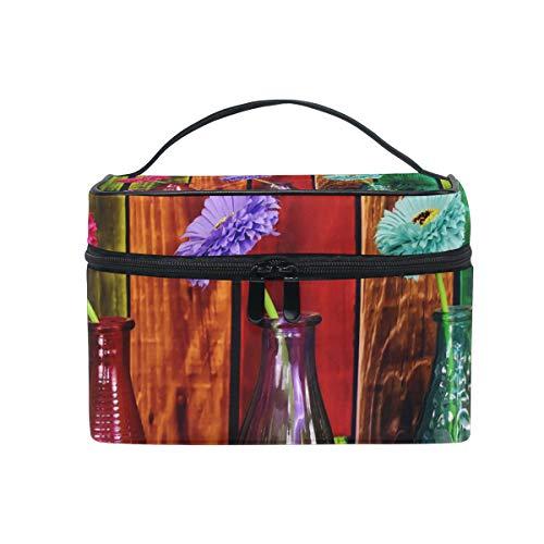 Cosmetic Toiletries Bag Storage Bag Handbag Makeup Bag For Girls Women Large 9x6.2x6.5 In Vases