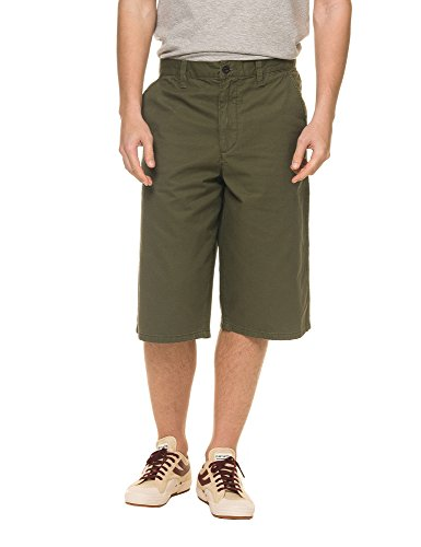 dr-denim-jeansmakers-mens-enzo-mens-khaki-long-shorts-in-size-33-green