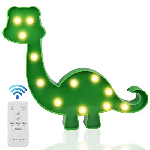 Light Up Dinosaur Toys LED Kids Night Lights with Wireless Remote Control for Boys Bedroom Decor, Birthday Gifts(Green Dinosaur)