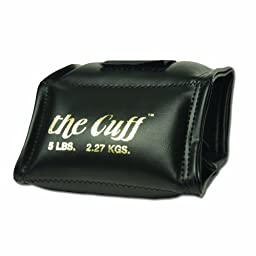 Cando 10-0209 Black Cuff, 5 lbs Weight, For Wrist or Ankle