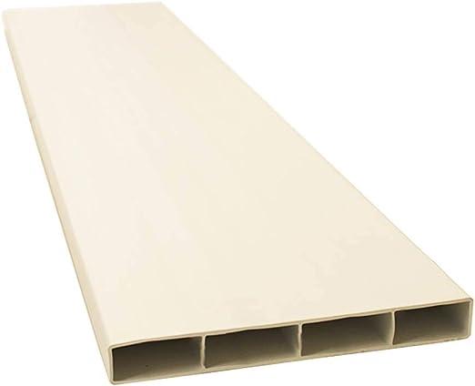Sistema Kair 225 234 mm x 29 mm rectangular – SYS-225 – ducvkc706 de plástico soporte de conducto tubo 1 m de largo), color blanco: Amazon.es: Hogar