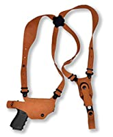 Premium Nubuck Leather Shoulder Holster with Single Carrier for FN FNS-9C Compact 3.6'' Barrel #6101