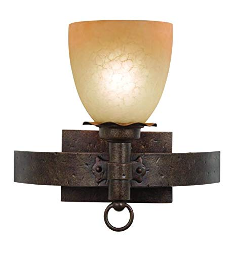 One Light Antique Copper Petite Victorian Glass Bathroom Sconce Antique Copper