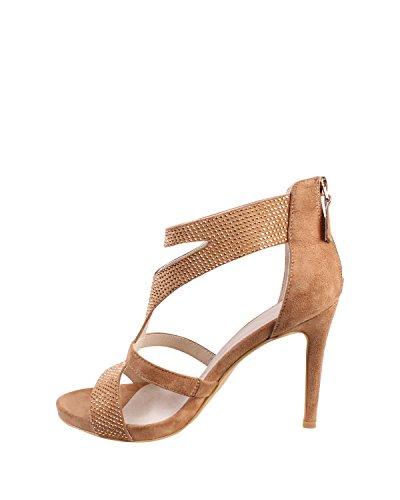 pour Sandales Sandales JEZZELLE JEZZELLE pour femme Camel dHwqBw8Cax