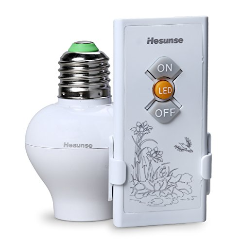KEDSUM Wireless Remote Control E26/E27 Light Bulb Socket & O