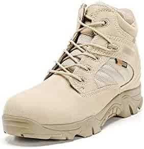 Goodtimeshow Hiking Shoes Army Desert Military Tactical Boots Shoes Waterproof Anti-Skid Combat Boots High//Low