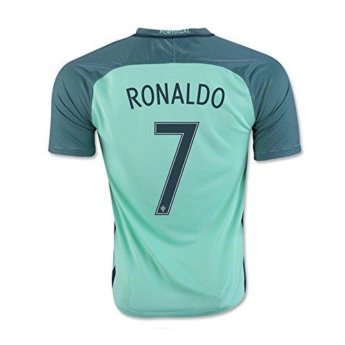 Ronaldo #7 Portugal Away Soccer Jersey UEFA Euro 2016 (2XL)
