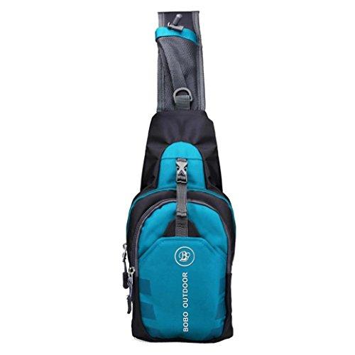 zaino da uomo , DDLBiz® Sport all'aria aperta escursioni casuale campeggio zaino Crossbody Sling Bag Shoulder Bag sacchetto della cassa per uomo (blu)