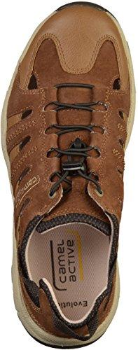 Pantofola Attiva Cammello In Legno Oversize Blu 138.21.12