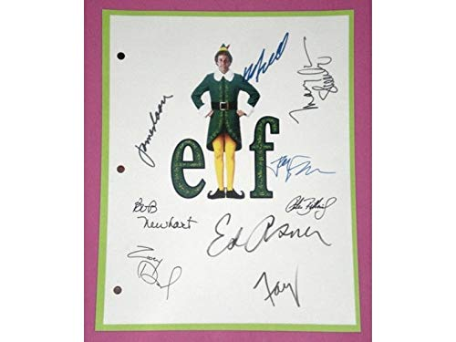 NHMug Elf Entire Movie Script Screenplay Autographed Poster Gifts for Lovers Poster [No Framed] Poster Home Art Wall Posters (24x36) -