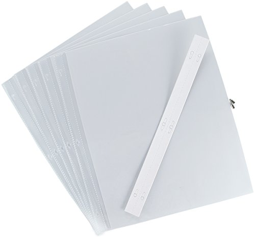 Pioneer Postbound Top Loading Page Protectors 5/Pkg, 12 Inch by 15 Inch with White - Top Postbound