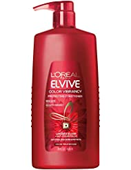 L'Oréal Paris Elvive Color Vibrancy Protecting Conditioner, for Color Treated Hair, Conditioner with Linseed Elixir and Anti-Oxidants, for Anti-Fade, High Shine, and Color Protection, 28 fl. oz.
