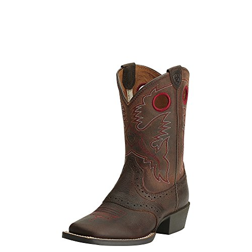 Ariat Girls Heritage Roughstock Performance 6 M Brown Oiled