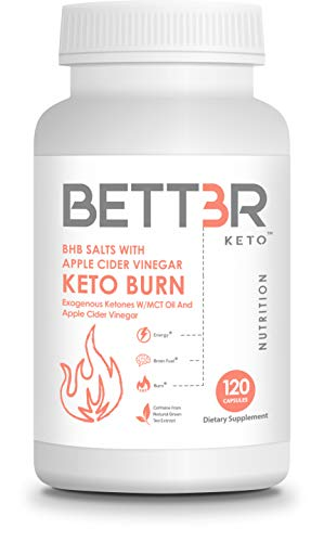 BETT3R KETO BURN BHB SALTS with MCT Oil Capsules and Apple Cider Vinegar