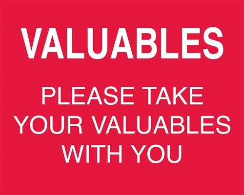 Signs - Valuables