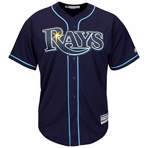 Tampa Bay Rays MLB Men's Big and Tall Cool Base Alternate Team Jersey Navy (2XT)