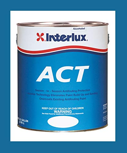 (Interlux Y6690U/1 ACT Antifouling Paint (Blue, Gallon), 128. Fluid_Ounces )
