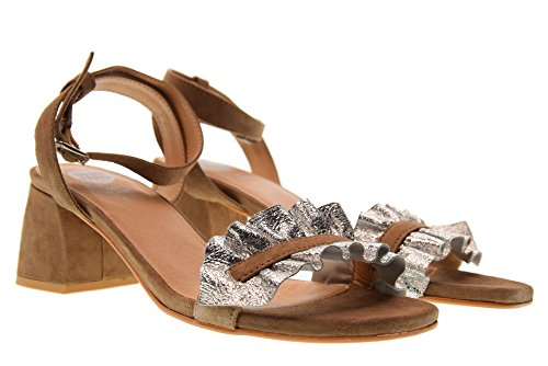 Sand Chaussures 45301 Sabbia Femme Silver Argento Bas Talon Gioseppo Sandales 0wqxdqH