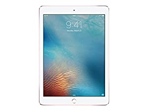 Apple iPad Pro 9.7-inch Wi-Fi plus Cellular, 128GB, Rose Gold (Year: 2016)