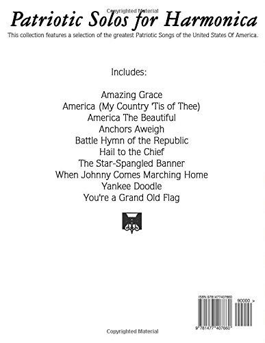 Patriotic Solos for Harmonica: 10 Patriotic Songs of the U S A  (In